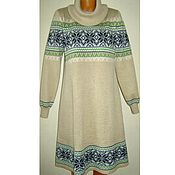 Одежда handmade. Livemaster - original item Sweater dress knit with a Norwegian ornament. Handmade.