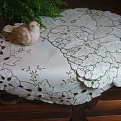 """Винтаж handmade. Livemaster - original item Набор винтажных салфеток """"Цветы и листья"""". Handmade."""