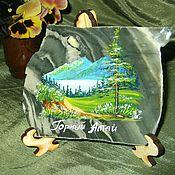 Сувениры и подарки handmade. Livemaster - original item Panels made of natural stone Mountain Altai Painting on stone. Handmade.