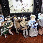 Куклы и игрушки ручной работы. Ярмарка Мастеров - ручная работа Ватная елочная игрушка. Handmade.