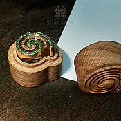"""Украшения ручной работы. Ярмарка Мастеров - ручная работа Кольцо """"Спираль"""" с цаворитами и желтыми сапфирами. Handmade."""
