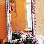 """Для дома и интерьера ручной работы. Ярмарка Мастеров - ручная работа Винтажное зеркало """"Фиалки"""".. Handmade."""