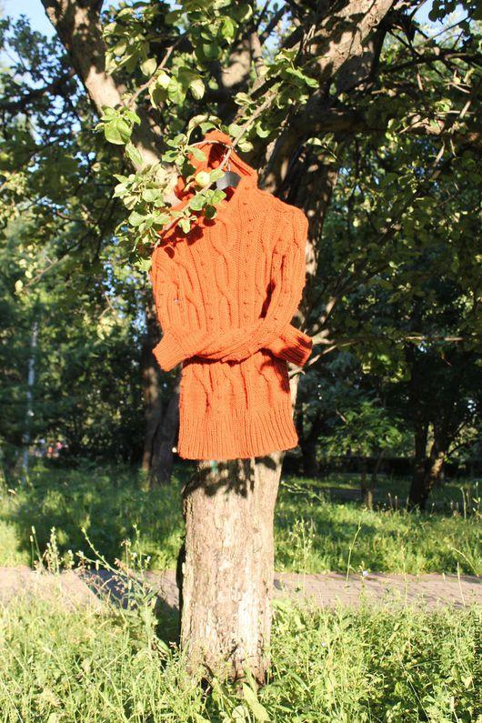Кофты и свитера ручной работы. Ярмарка Мастеров - ручная работа. Купить Рыжий свитер. Handmade. Рыжий, свитер вязаный, араны