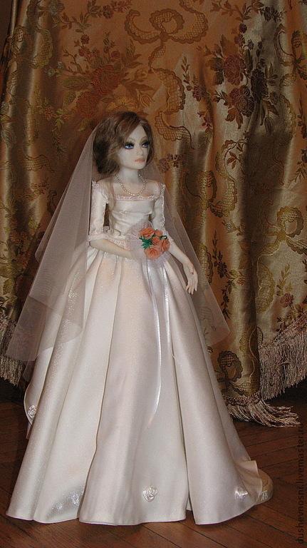 Коллекционные куклы ручной работы. Ярмарка Мастеров - ручная работа. Купить Невеста. Handmade. Белый, подарок девушке