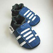 Работы для детей, handmade. Livemaster - original item Blue baby shoes, Leather Baby shoes,Baby Sneakers,Ebooba. Handmade.