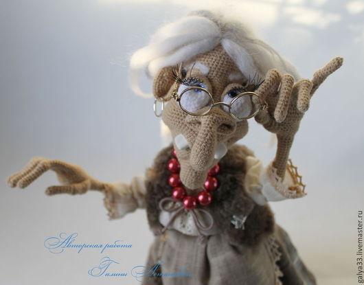 Сказочные персонажи ручной работы. Ярмарка Мастеров - ручная работа. Купить Баба Яга. Handmade. Баба яга, наполнитель холофайбер