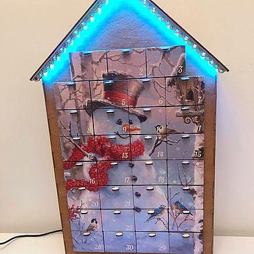 Сувениры и подарки ручной работы. Ярмарка Мастеров - ручная работа Адвент календарь с цветной подсветкой. Handmade.