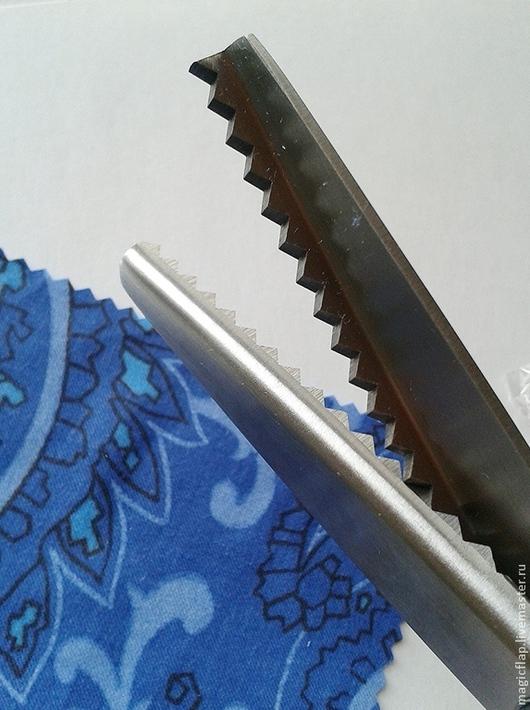 Шитье ручной работы. Ярмарка Мастеров - ручная работа. Купить Ножницы Зигзаг профессиональные для ткани, фетра, кожи. 5мм. Handmade.