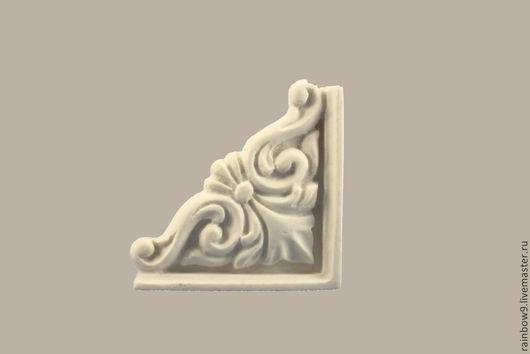 Декоративный элемент из пластика, заготовки для декупажа. Объемный декор мебели. Лепнина накладка Розетка круглая. Декупаж и роспись для мебельного и интерьерного декора, резной и лепной декор, фурнитура для мебели.