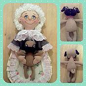 """Для дома и интерьера ручной работы. Ярмарка Мастеров - ручная работа Кукла - пакетница """"Бабушка и мопс"""". Handmade."""