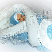 """Работы для детей, ручной работы. Ярмарка Мастеров - ручная работа """"Маленький принц"""" (бирюзовый) комплект на выписку осень, зима. Handmade."""