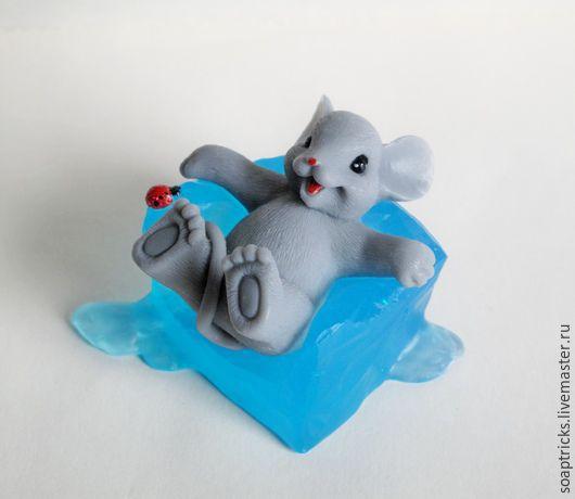 Мыло ручной работы. Ярмарка Мастеров - ручная работа. Купить Мыло Мышонок на льдине. Handmade. Разноцветный, мыло сувенирное