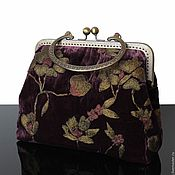 Сумки и аксессуары handmade. Livemaster - original item velvet handbag vintage designer bag, velvet. Handmade.