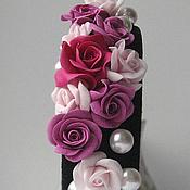 """Украшения ручной работы. Ярмарка Мастеров - ручная работа Ободок  для волос жемчугом и розами """"Весна от """" D&G """"Обруч для волос. Handmade."""