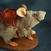 Куклы и игрушки ручной работы. Ярмарка Мастеров - ручная работа Рафинад (ездовой крыс). Handmade.