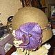 """Шляпы ручной работы. Заказать Шляпка валяная """"Этюд"""". Iren Step. Ярмарка Мастеров. Фиолетовый, шляпка с цветами, Итальянский меринос"""