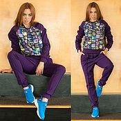 """Одежда ручной работы. Ярмарка Мастеров - ручная работа Костюм """"Фиолетовые фото"""". Handmade."""