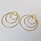 Швензы ручной работы. Ярмарка Мастеров - ручная работа Швензы: кольца позолоченные. Handmade.