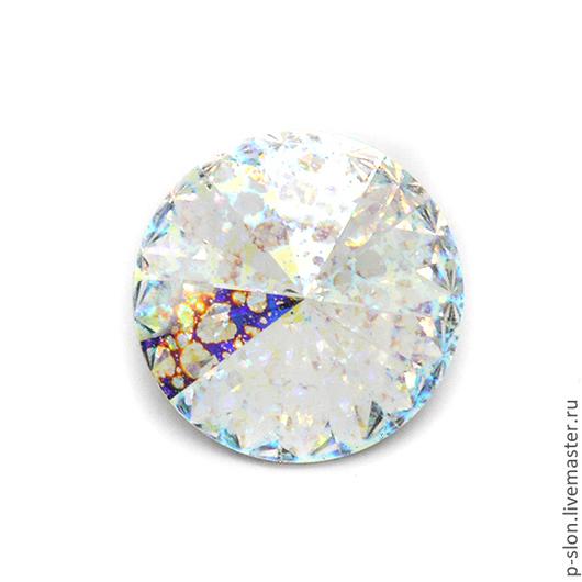 Для украшений ручной работы. Ярмарка Мастеров - ручная работа. Купить Риволи Swarovski crystal white patina РС14. Handmade.
