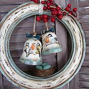 """Для дома и интерьера ручной работы. Ярмарка Мастеров - ручная работа Колокольчики """"Зимняя вишня"""". Handmade."""