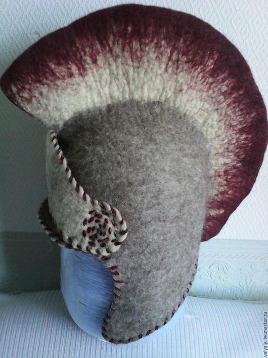 """Шапки ручной работы. Ярмарка Мастеров - ручная работа. Купить шапка для бани: """"Шлем гладиатора"""". Handmade. Серый, шапка"""