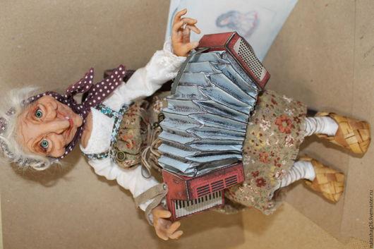 Коллекционные куклы ручной работы. Ярмарка Мастеров - ручная работа. Купить Яга. Handmade. Коричневый, колекционная кукла, авторская работа