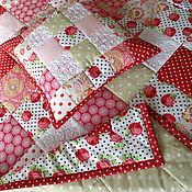 Для дома и интерьера handmade. Livemaster - original item Patchwork set patchwork quilt patchwork pillows. Handmade.