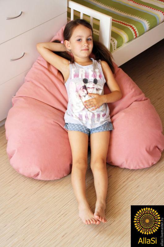 Мебель ручной работы. Ярмарка Мастеров - ручная работа. Купить Пуф - Сердце, подушка напольная, кресло бескаркасное. Авторская работа. Handmade.