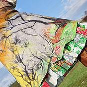 """Одежда ручной работы. Ярмарка Мастеров - ручная работа Валяная юбка """" Неспешная ПОСТУПЬ весны"""". Handmade."""