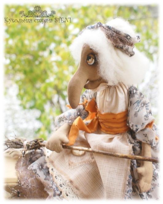 Коллекционные куклы ручной работы. Ярмарка Мастеров - ручная работа. Купить Баба Яга. Авторская текстильная кукла. Handmade. Бежевый