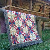 Для дома и интерьера ручной работы. Ярмарка Мастеров - ручная работа Лоскутное одеяло Колесо времени. Handmade.