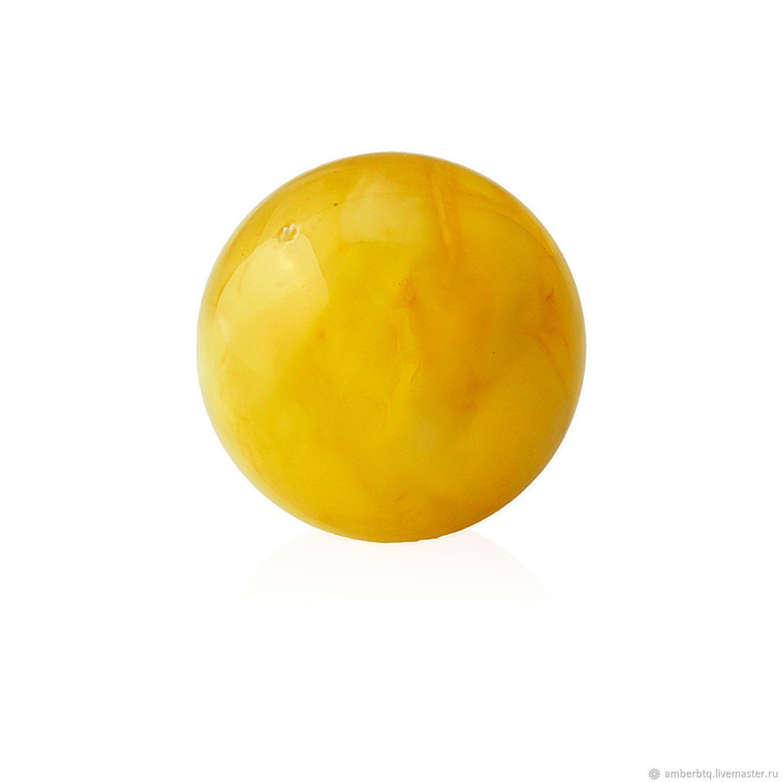 Шар - Янтарь - 8мм - цвет Мёд антикварный - Сверленный, Бусины, Калининград,  Фото №1
