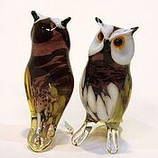 Для дома и интерьера handmade. Livemaster - original item Decorative figurine made of colored glass Owl Sigmund. Handmade.
