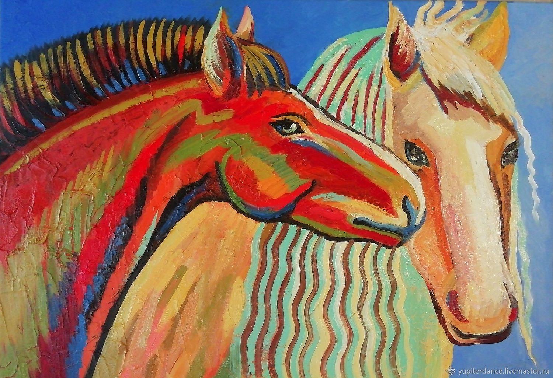 Картина с парой лошадей
