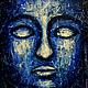 Абстракция ручной работы. Ярмарка Мастеров - ручная работа. Купить Будда. Handmade. Тёмно-синий, будда, картина для интерьера
