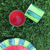"""Посуда ручной работы. Ярмарка Мастеров - ручная работа Чашка """"Арбуз"""". Handmade."""