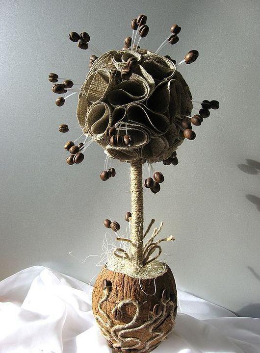 Топиарии ручной работы. Ярмарка Мастеров - ручная работа. Купить Дерево счастья. Handmade. Дерево счастья, сезаль
