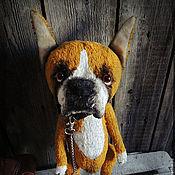 Куклы и игрушки ручной работы. Ярмарка Мастеров - ручная работа Боксер Бакс.  Ваш питомец по фото. Собачка-тедди.. Handmade.