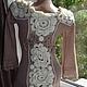 Платья ручной работы. платье - DIANA с кружевной спиной. Katerina. Ярмарка Мастеров. Платье крючком, вязаное платье, ангора