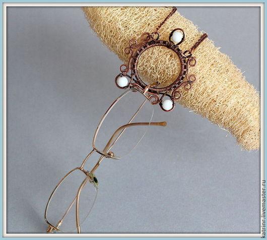 Кулоны, подвески ручной работы. Ярмарка Мастеров - ручная работа. Купить Кулон-держатель для очков. Handmade. Коричневый, кулон, жемчуг