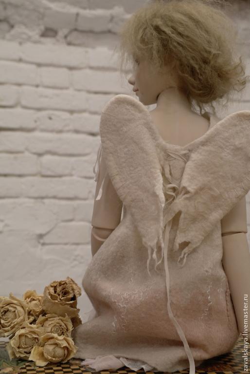Коллекционные куклы ручной работы. Ярмарка Мастеров - ручная работа. Купить Ева. Handmade. Бледно-розовый, полимерная глина lmage