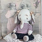Куклы и игрушки ручной работы. Ярмарка Мастеров - ручная работа Эмми слоник тедди девочка 15см. Handmade.
