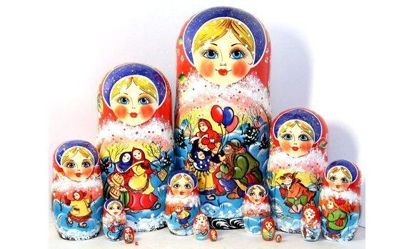 Матрешка народные гуляния 15м 30см, Народная кукла, Шатура,  Фото №1