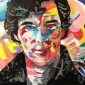 Картины и панно handmade. Livemaster - original item Painting portrait of Sherlock Holmes. Handmade.