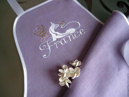 Фартук для кухни, фартук с вышивкой, Прованс, подарок на день рождения, подарок на 8 Марта, Подарок на Новый год