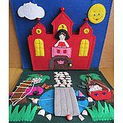 """Куклы и игрушки ручной работы. Ярмарка Мастеров - ручная работа Развивающая книжка """"Замок принцессы"""". Книжка-игрушка. Handmade."""