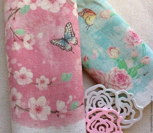 """Шитье ручной работы. Ярмарка Мастеров - ручная работа. Купить Купон лен """"Японские мотивы"""" 2 цвета. Handmade."""