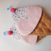 """Для дома и интерьера ручной работы. Ярмарка Мастеров - ручная работа Прихватка """"Мороженое с шоколадной крошкой"""". Handmade."""