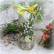 Подарки к праздникам ручной работы. Ярмарка Мастеров - ручная работа вазочка для цветов Ландыш. Handmade.
