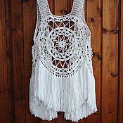 Одежда handmade. Livemaster - original item Beach Boho vest with bahroma. Handmade.
